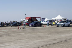 2 автомобиля перед гонками на ` s Resinge волочат Стоковые Фотографии RF