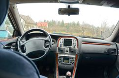 автомобиля скорость внутри помещения нутряная кожаная резвится корабль Стоковые Фото