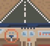 автомобиля скорость внутри помещения нутряная кожаная резвится корабль Взгляд from inside автомобиля вектор иллюстрация вектора