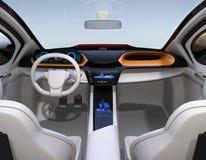 Автономная концепция интерьера автомобиля Стоковые Изображения RF