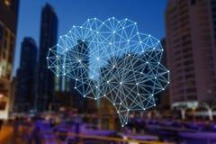 Автономные вещи и умный город иллюстрация вектора