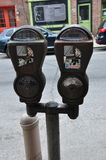 Автопарковочный счетчик, Филадельфия Стоковое Изображение