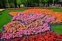 Автопортрет Винсента ван Гога сделал от тысячи тюльпана и g Стоковое Изображение RF