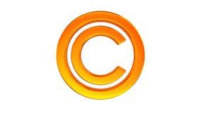 авторское право знака на белой предпосылке изолированные 3d представляют бесплатная иллюстрация