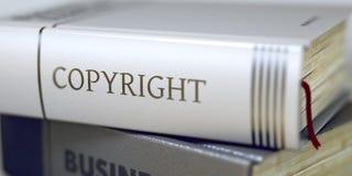 Авторское право - название торговой книги Стоковые Изображения RF