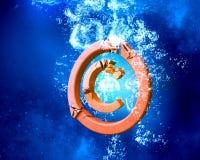 Авторское право подписывает внутри воду стоковые фото