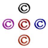 Авторское право символа Стоковые Изображения RF