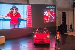 Автосалон 2017 автомобиль LYNK Шанхая & CO 01 Стоковые Фотографии RF