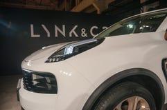 Автосалон 2017 автомобиль LYNK Шанхая & CO 01 Стоковое Изображение RF