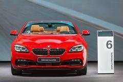 Автосалон 2015 Детройта автомобиля с откидным верхом BMW 650i Стоковые Фотографии RF