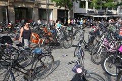 Автостоянка велосипеда Амстердама Стоковые Фотографии RF