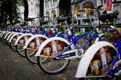 Автостоянка велосипеда в Осло, Норвегии стоковые фотографии rf
