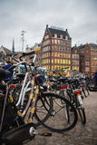 Автостоянка велосипеда на квадрате DAM Стоковые Изображения