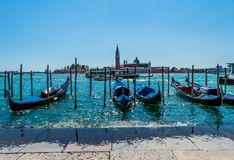 Автостоянка гондолы Италии Венеции Стоковые Изображения RF