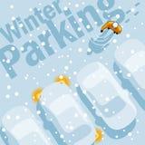 Автостоянка зимы Стоковое Изображение RF