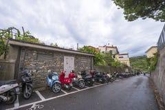 Автостоянка мотоцикла стоковые изображения rf