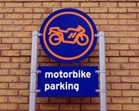 Автостоянка мотоцилк Стоковое Изображение