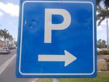 автостоянка дорожного знака Стоковое Изображение