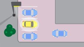 Автостоянка Иллюстрация вектора