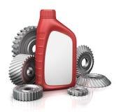 Автотракторное масло может с шестернями иллюстрация вектора