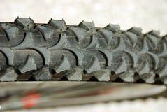 автошина детали крупного плана bike Стоковая Фотография