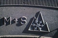 Автошина зимы - символ Стоковые Фотографии RF