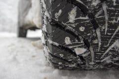 Автошина зимы стоковое изображение