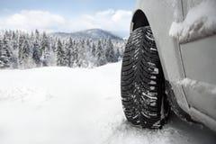 Автошина зимы стоковая фотография rf