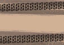 Автошина отслеживает предпосылку в стиле grunge, коричневых цветах Стоковые Изображения
