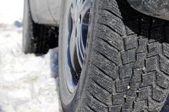 Автошины зимы автомобиля Стоковое Изображение