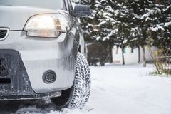Автошины зимы Стоковое Изображение