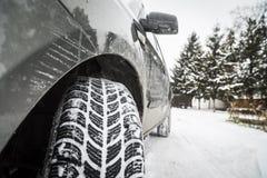 Автошины зимы Стоковая Фотография