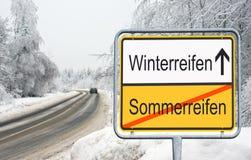 Автошины зимы  Стоковое фото RF
