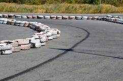Автошины на autodrome Стоковая Фотография RF