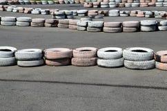 Автошины на autodrome Стоковое Фото