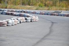 Автошины на autodrome Стоковая Фотография
