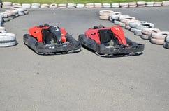 Автошины на autodrome Стоковые Изображения RF