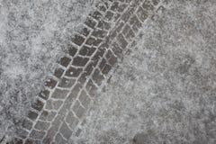 Автошины следа на льде Стоковое фото RF