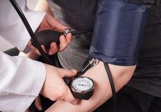давление проверки крови вверх Стоковое Изображение RF