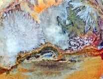 Агат с естественными цветами Стоковое фото RF