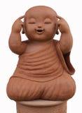 Агашко монаха ребенка изолированное на белой предпосылке Стоковая Фотография