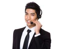 Агент центра телефонного обслуживания стоковое фото rf