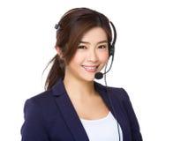 Агент центра телефонного обслуживания стоковая фотография rf