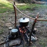 лагерный костер варя сверх Стоковое Фото