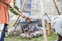 лагерь средневековый Стоковые Фотографии RF
