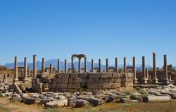 Агора в Perge Турции стоковое изображение