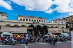 Агора Varvakeios центрального рынка Афин в Греции стоковая фотография rf