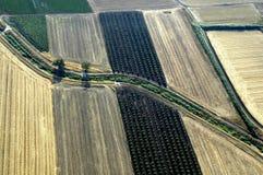 Аграрная обрабатываемая земля Стоковые Изображения RF