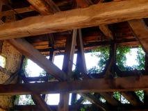 Аграрное здание в полу-timbered стиле стоковое фото