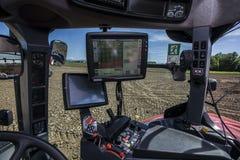 аграрное машинное оборудование засаживая весну сеялки Стоковые Фото